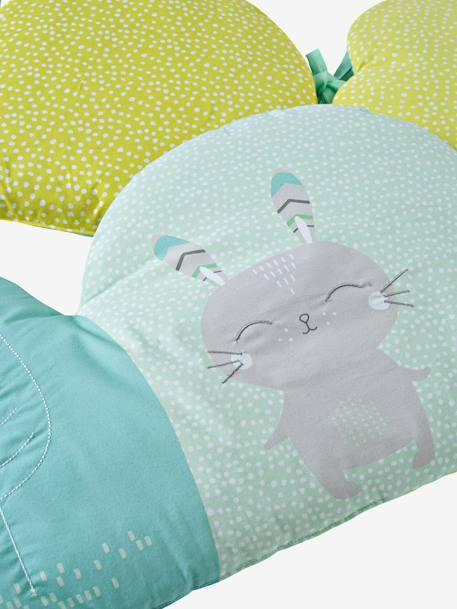 Tour de lit modulable reve nordik vert blanc meubles - Lit modulable enfant ...