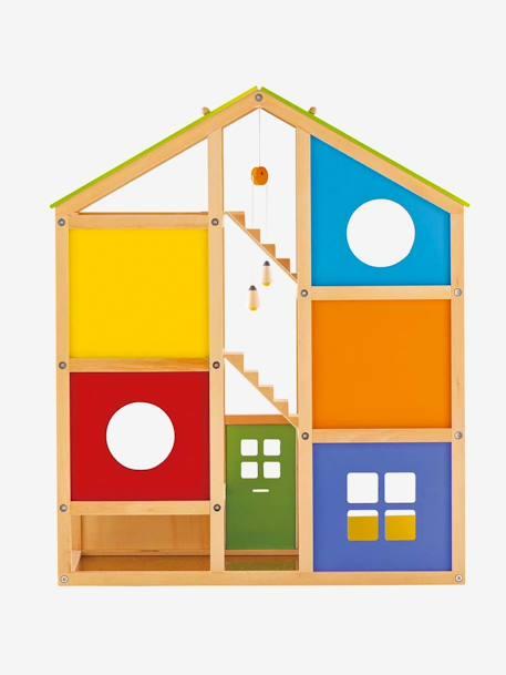 Groot poppenhuis met meubels van hape speelgoed for Groot poppenhuis