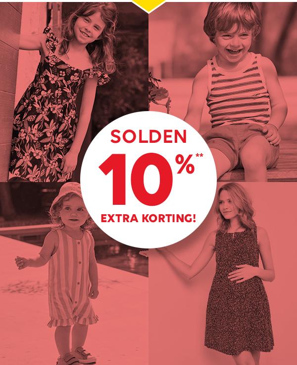 SOLDEN! 10%** EXTRA KORTING!