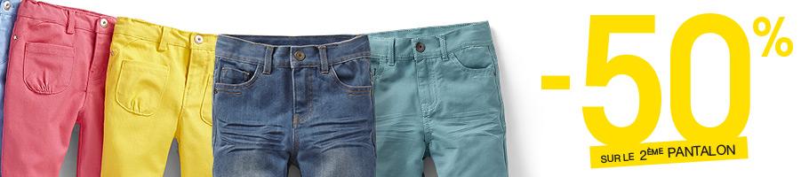 -50% sur le 2ème pantalon