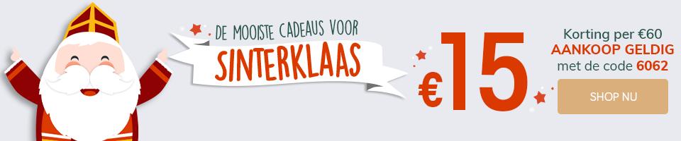 De mooiste cadeaus voor Sinterklass €15 aankoop geldig