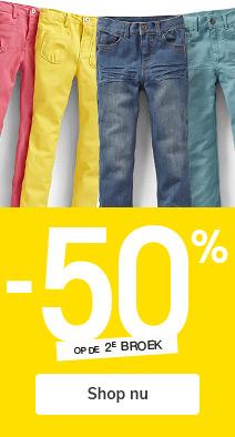 -50% op de 2e Broek