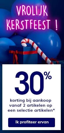 30% korting bij aankoop vanaf 2 artikelen op een selectie artikelen*