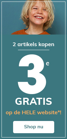 2 artikels kopen = 3e GRATIS op de HELE website!