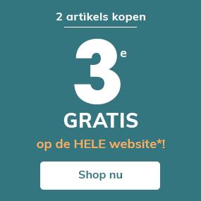 2 artikels kopen=3e GRATIS op de HELE website!
