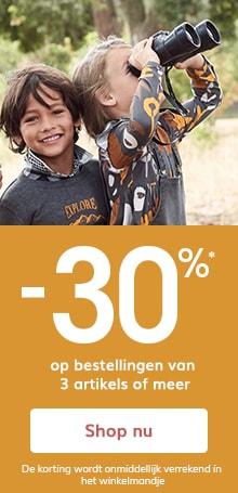 -30%* op bestellingen van 3 artikels of meer