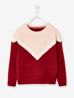 Fille-Pull, gilet, sweat-Pull fille colorblock