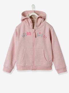 Fille-Collection sport-Sweat zippé à capuche fille sport