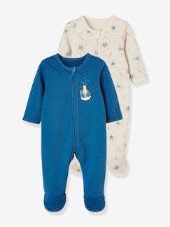 Baby-Pyjama, surpyjama-Set van 2 fleece pyjama's