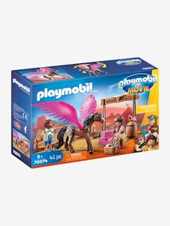 Collectie Vertbaudet-70074 THE MOVIE Marla en Del met gevleugeld paard PLAYMOBIL