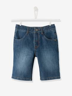 Jongens-Short-Bermudashort in denim voor jongens