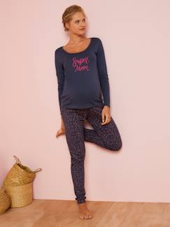 Future Maman-Ensemble T-Shirt + pantalon de pyjama de grossesse