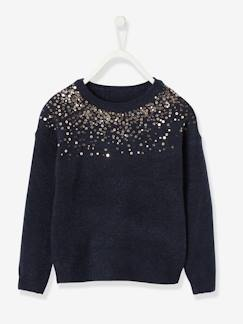 Fille-Pull, gilet, sweat-Pull à sequins fille