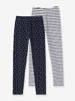 Fille-Legging-Lot de 2 leggings fille imprimés