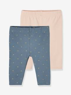 Bébé-Legging-Lot de 2 leggings courts bébé assortis