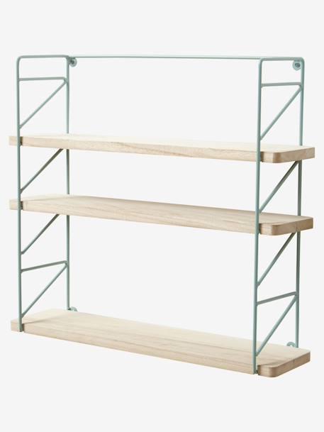 etag re m tal et bois brut 3 niveaux vert chambre et. Black Bedroom Furniture Sets. Home Design Ideas
