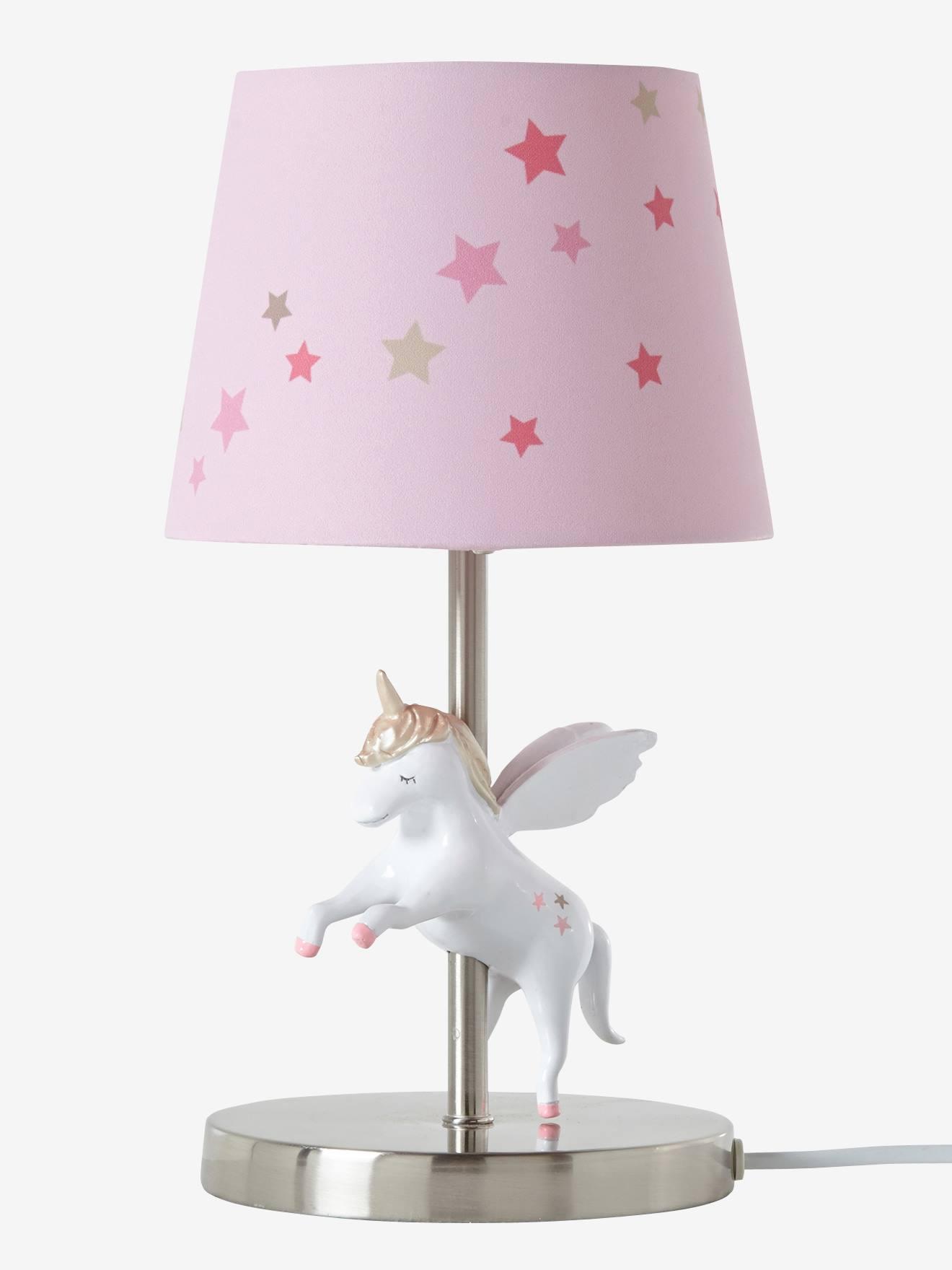 Lampe De Chevet Licorne Rose Rangement Et Decoration