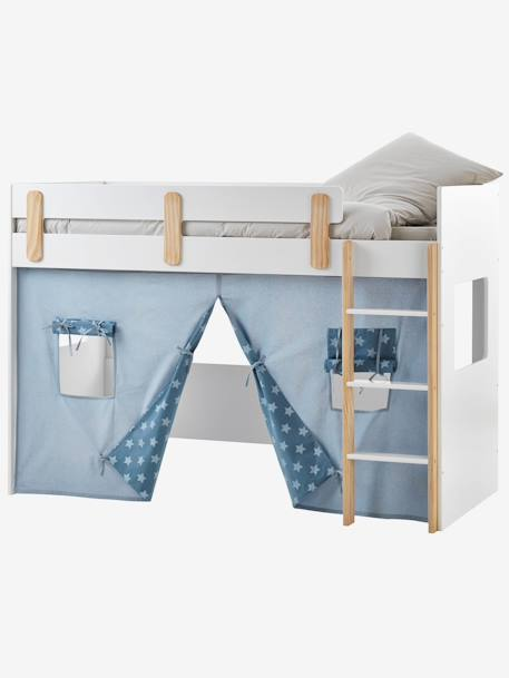 Tente pour lit mezzanine mi-hauteur LIGNE EVEREST - bleu/aop ...