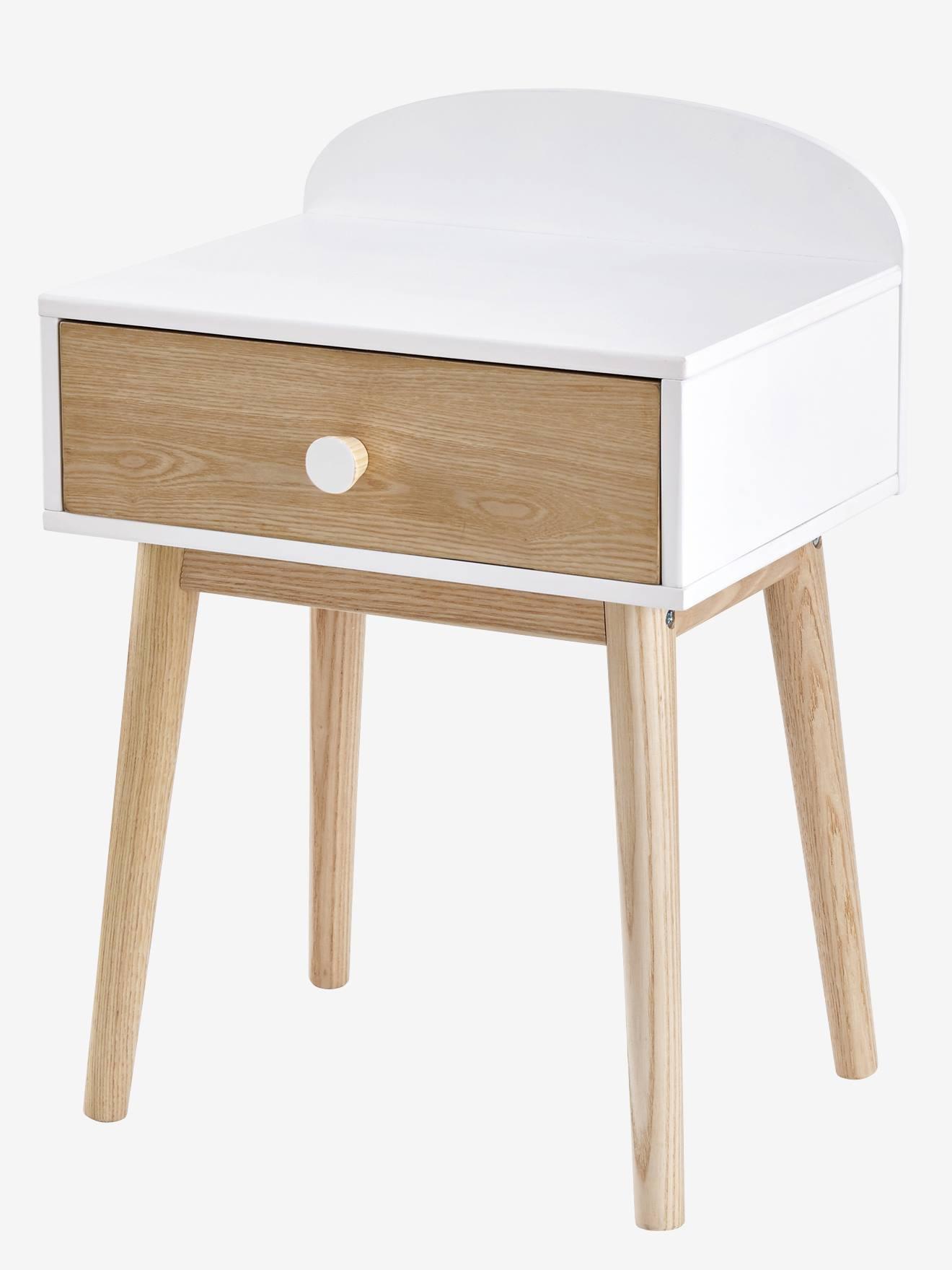 Elegant meubles et linge de avec poignes ligne confetti with table chevet fille - Table de nuit hello kitty ...