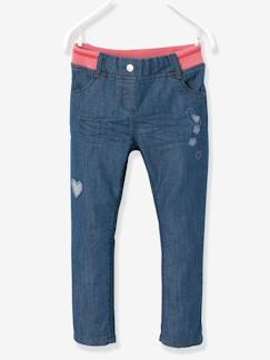 Fille-Pantalon-Pantalon fille en denim coupe boyfriend