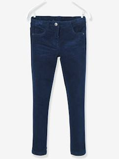 Pantalon slim fille en velours tour de hanches LARGE  - vertbaudet enfant