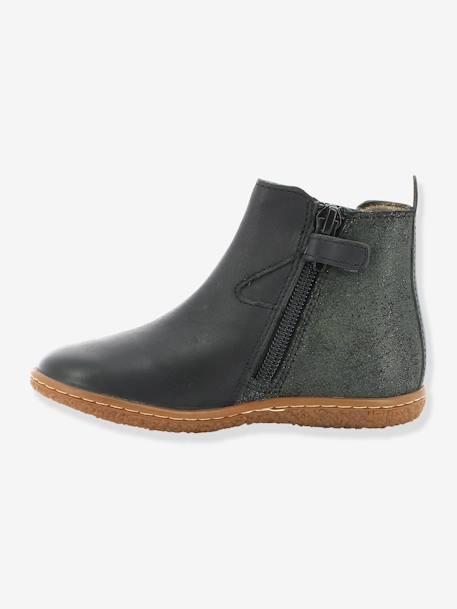 a83ae34e503e3 Boots fille Vermillon KICKERS® MARINE+Noir - vertbaudet enfant