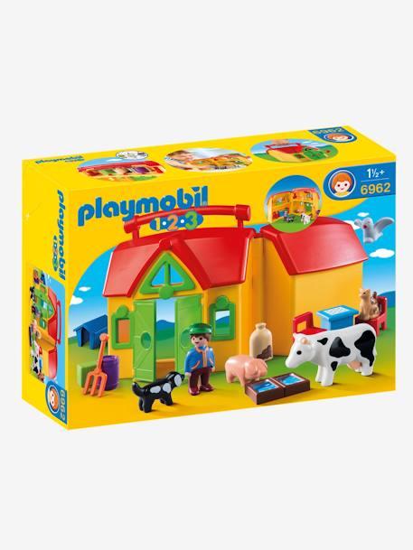 outlet te koop 100% topkwaliteit groothandel Verplaatsbare boerderij met dieren Playmobil 1, 2, 3 - geel/veelkleurig,  Speelgoed