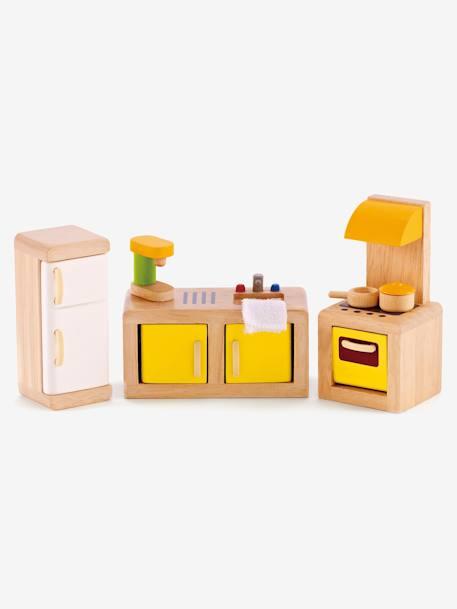 Cuisine en bois hape multicolore jouet for Cuisine hape