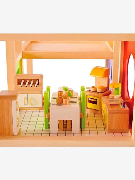 Cuisine en bois hape multicolore jouet for Cuisine vertbaudet