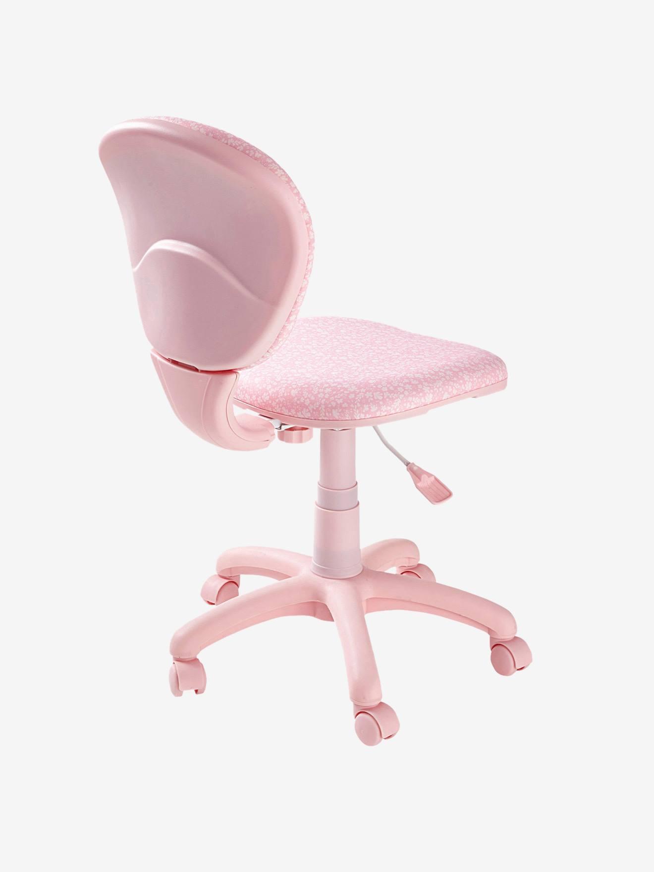 Bureaustoel 30 Euro.Bureaustoel Met Wieltjes Roze Fleurs Meubels En Beddengoed
