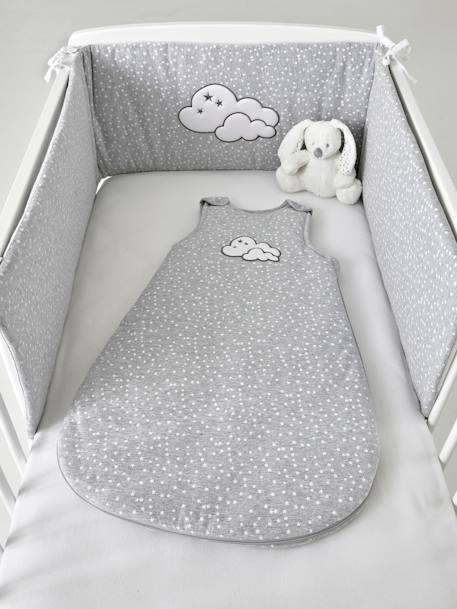 Tour de lit matelassé NUAGE CELESTE - gris moyen imprimé, Meubles et ...