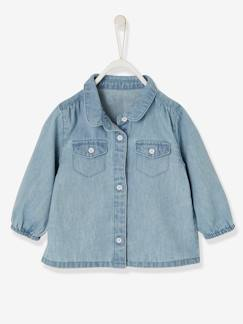 Baby-Denim blouse meisjesbaby
