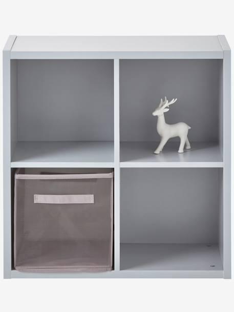 Meuble de rangement 4 cases gris rangement et d coration for Meuble 12 cases