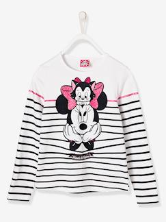Fille-T-shirt, sous-pull-T-shirt-T-shirt fille Minnie® rayé