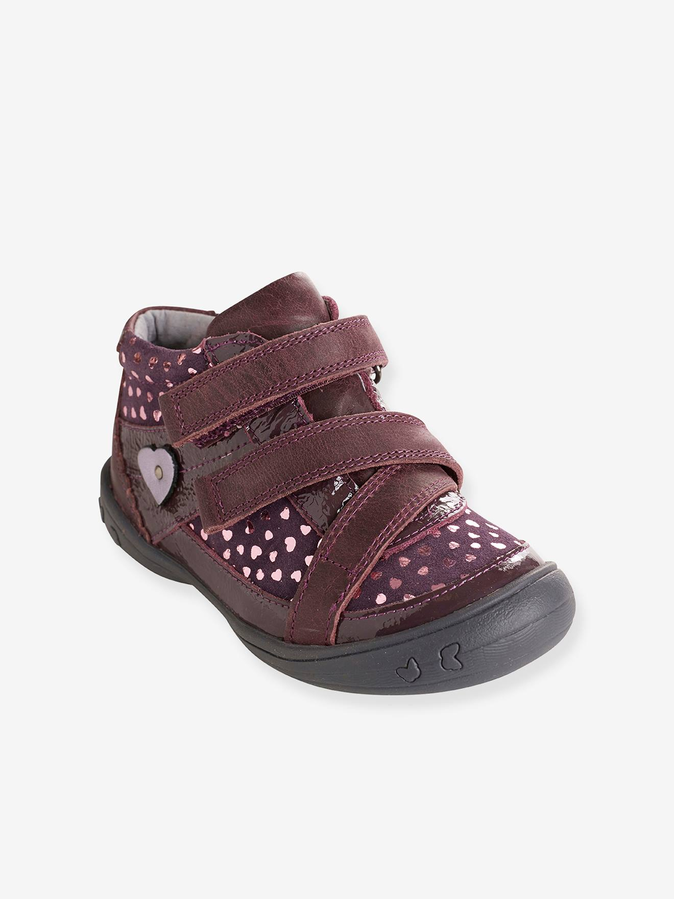 Chaussures Bottines cuir fille collection violet maternelle rqYXwYvxaT
