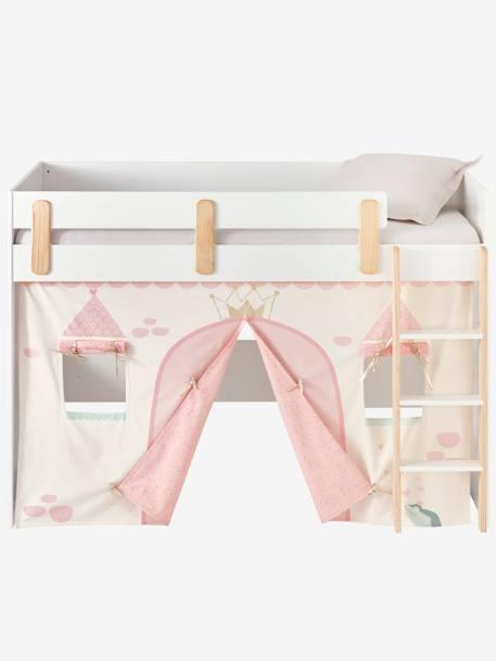 Tente de lit Princesse féérique pour lit mezzanine mi hauteur