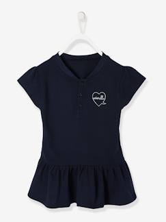 Fille-T-shirt, sous-pull-Polo fille manches courtes