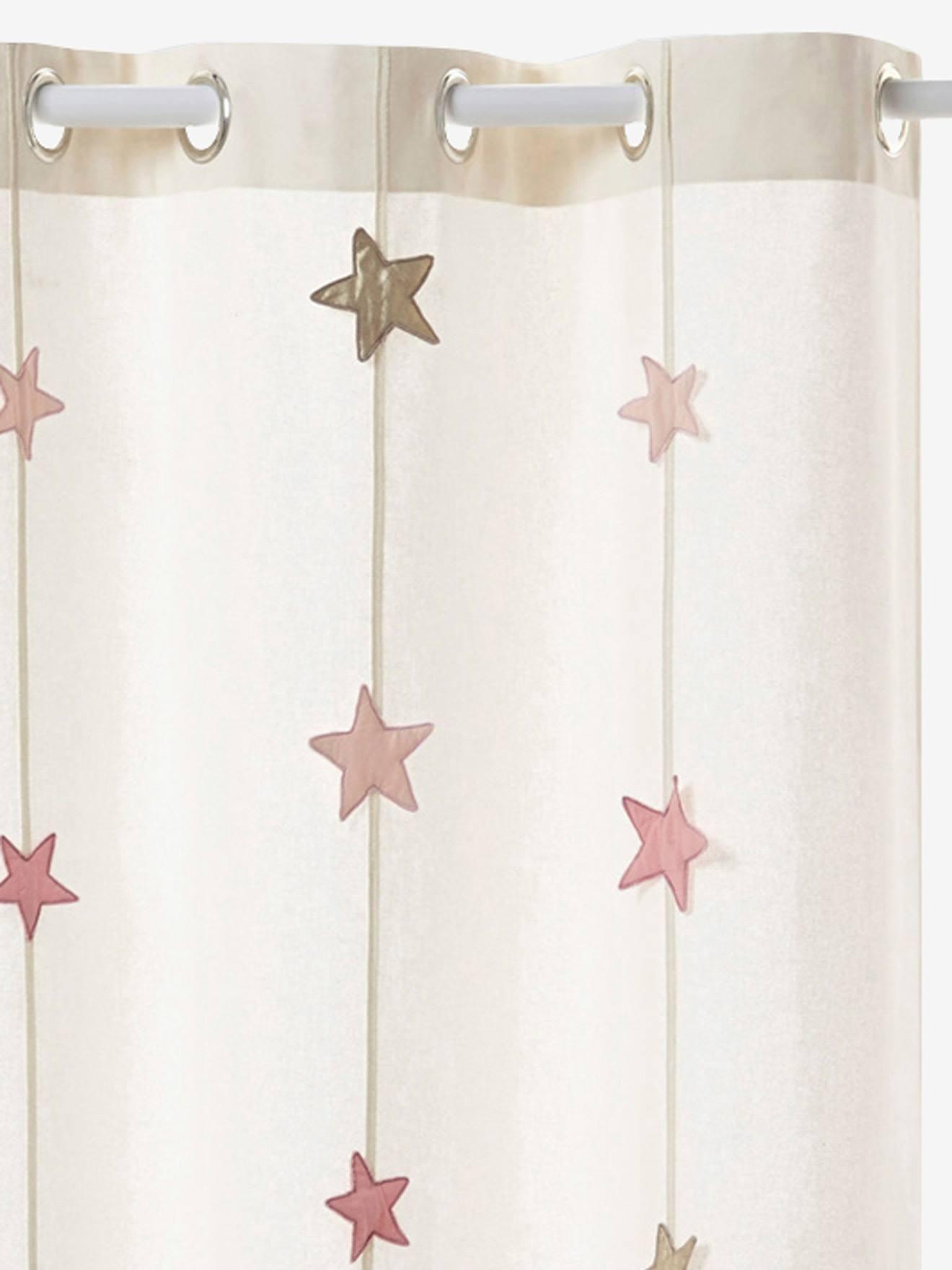 Charmant Rangement Et Décoration Décoration Rideau Rideau Tamisant Magie Rose