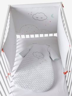 Meubels en beddengoed-Baby beddengoed-Gevulde bedomheining Bio Collection BIO NUAGE