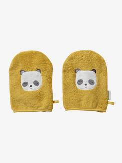 Linnengoed en decoratie-Badlinnen-Badcape-Set van 2 washandjes Panda
