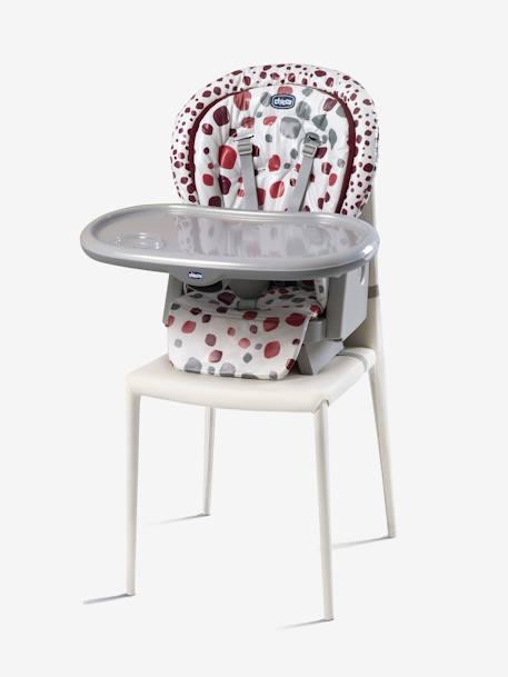 Chaise haute évolutive CHICCO Polly Progres5 Gris+Imprimé rouge - vertbaudet  enfant ab466299f5e