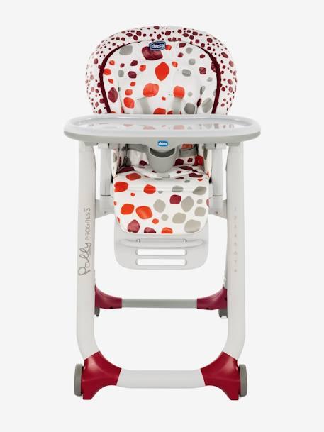 0d7a9005cb50 Chaise haute évolutive CHICCO Polly Progres5 Gris+Imprimé rouge - vertbaudet  enfant