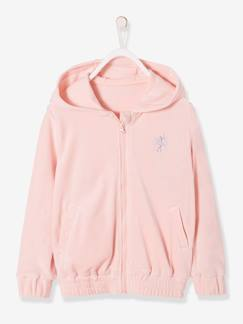 Fille-Collection sport-Sweat zippé fille en velours