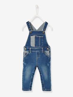 "Baby-Salopette, jumpsuit-Denim salopette babyjongen ""used"" effect"