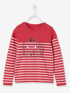 Fille-T-shirt, sous-pull-T-shirt rayé fille manches longues