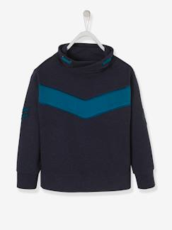 Jongens-Sweater-Colorblock jongenssweater met badge