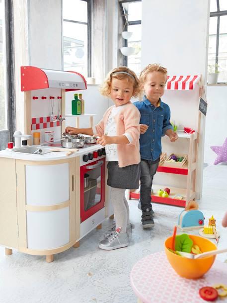 grande cuisinette en bois hape blanc jouet. Black Bedroom Furniture Sets. Home Design Ideas