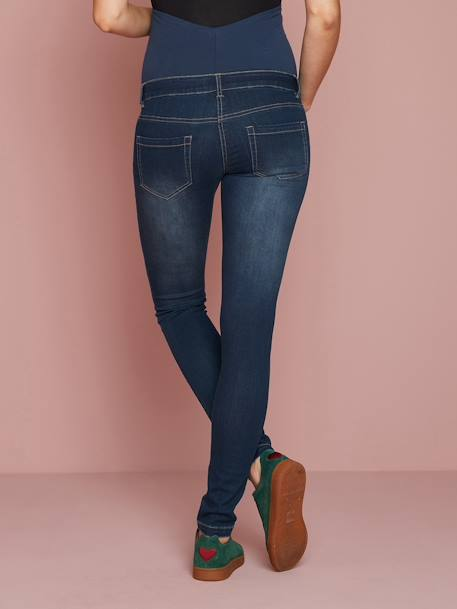 Jean slim stretch de grossesse entrejambe 79 DENIM BLACK+DENIM BRUT+DENIM GRIS CLAIR+DENIM GRIS CLAIR - vertbaudet enfant