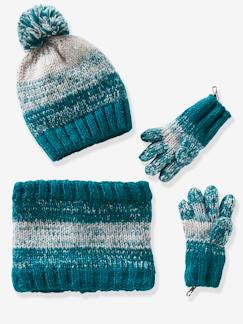 Jongens-Muts + snood + handschoenen of wanten