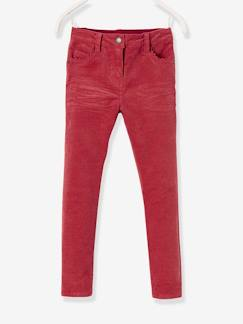 Pantalon slim fille en velours tour de hanches MEDIUM  - vertbaudet enfant